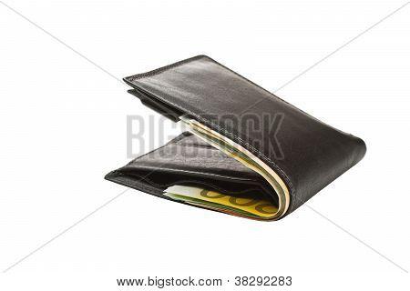 Brieftasche mit Euro-Banknoten
