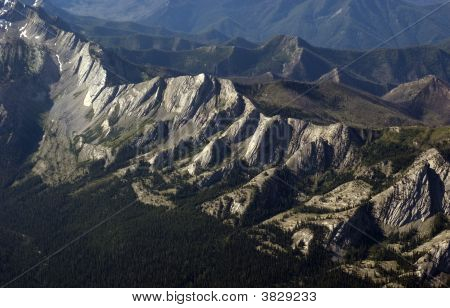 Rock Formations In Bob Marshall Wilderness