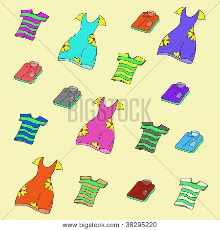 Camisas, t-shirts e vestidos