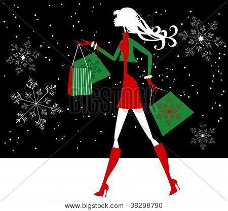 Xmas Shopping Girl
