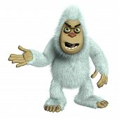 image of bigfoot  - 3 d cartoon cute white bigfoot toy - JPG