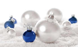 pic of christmas ornament  - snow baubles - JPG