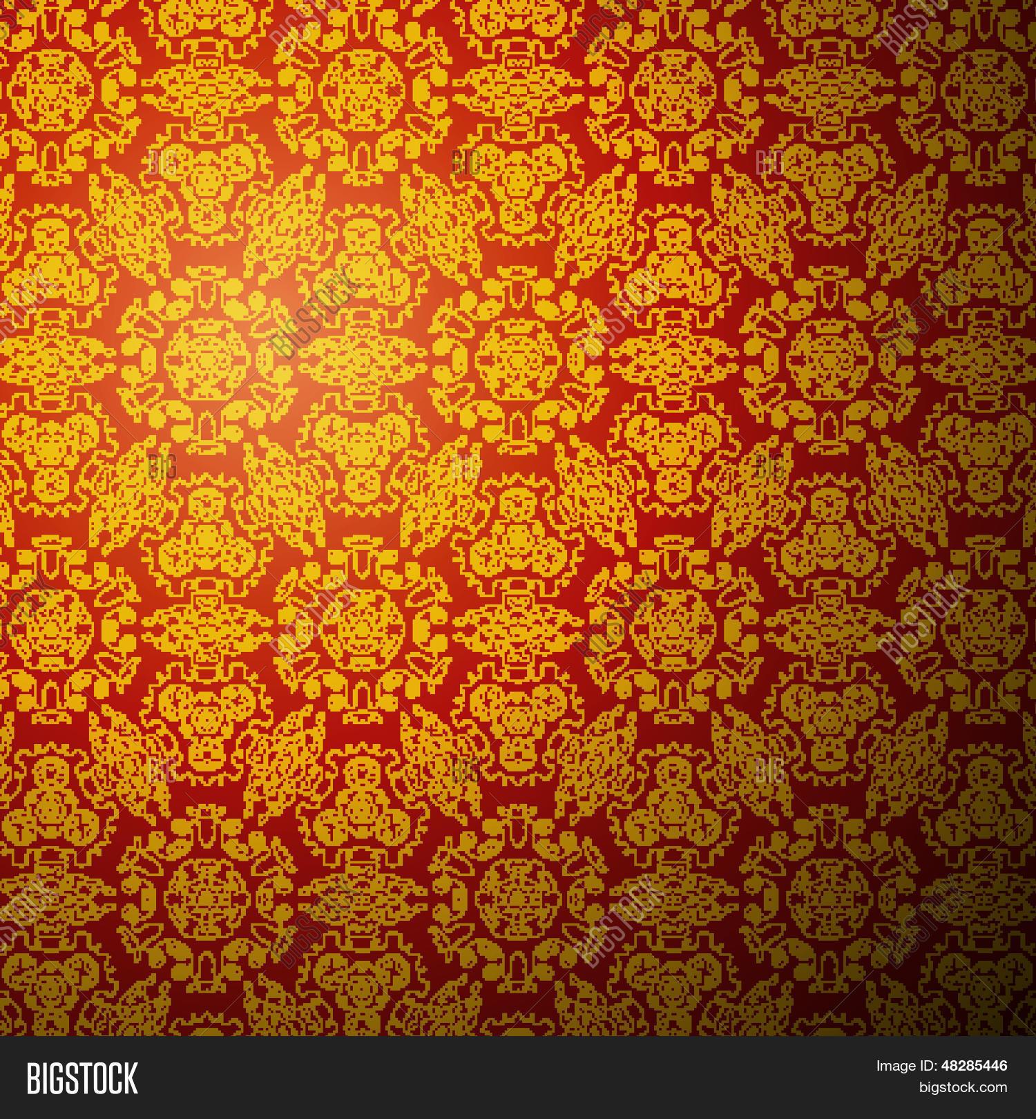 Chinese pattern background. Seamless wallpaper Stock ... | 1500 x 1620 jpeg 799kB