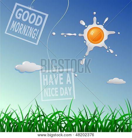 Guten Morgen-Cartoon-Konzept