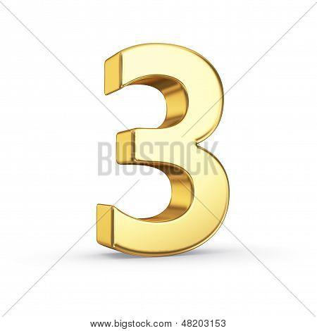 3D golden number 3