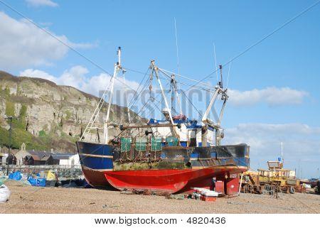 Fishing Boat At Hastings