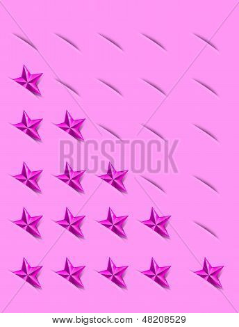 Rating Stars Concept in Pink