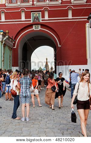 Iberian Gate Of Kremlin Wall
