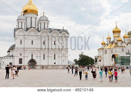 Sobornaya Square Of Moscow Kremlin
