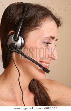 Girl On Communication