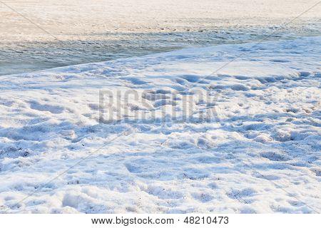 Snowbound Riverbank