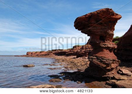 Pei Shoreline Rocks Erosion