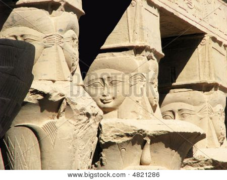 Capitals Of Philae Temple
