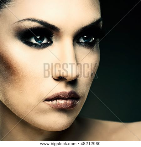 Adult Pretty Woman Stylish Portrait