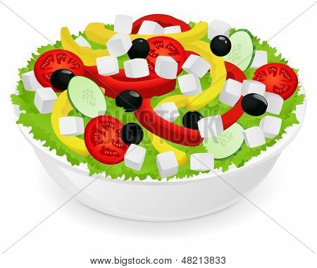 Isolated Vegetable salad