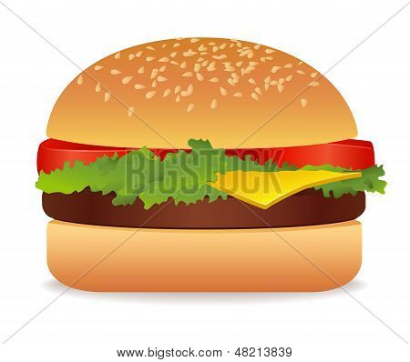 Appetizing american Hamburge