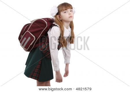 Schoolgirl Is Tired