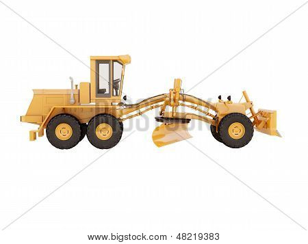 Modern Grader Isolated