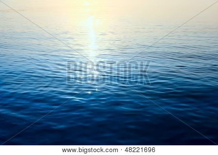 Water Pattern With  Solar Patches Of Light