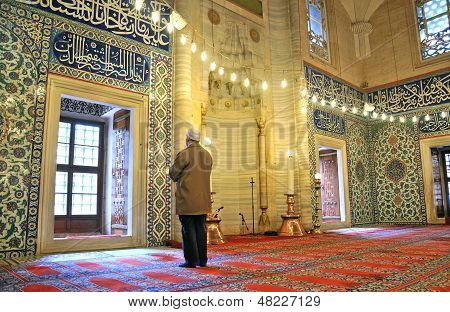 People Praying In The Mosque