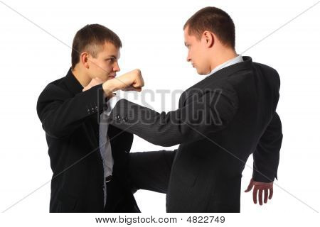 Two Fighting Businessmen