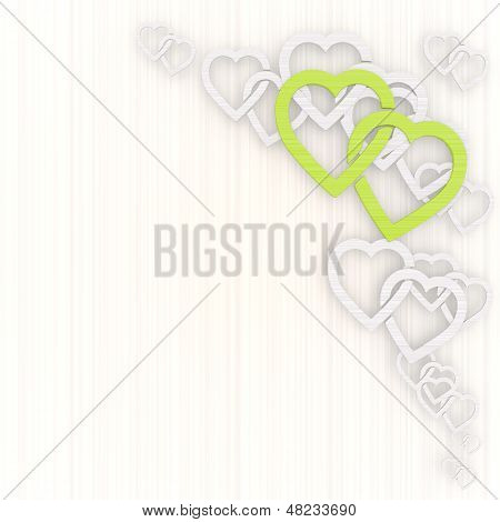 Illustration Of A Creative Two Hearts Background With Pictogram