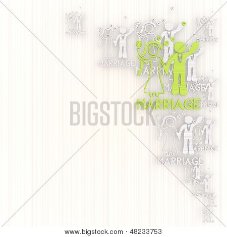Illustration Of A Noble Marriage Background With Pictogram