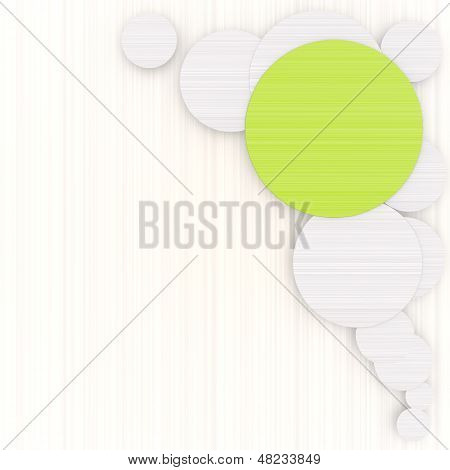 3D Graphic Of A Designed Circle Background With Pictogram