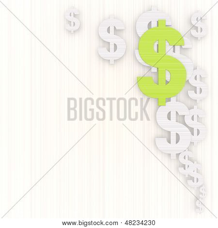 Illustration Of A Financial Dollar Illustration With Pictogram