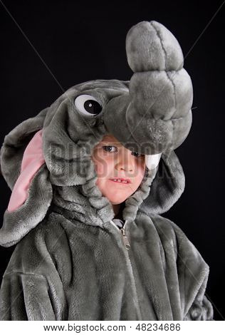 Child in elephant costume