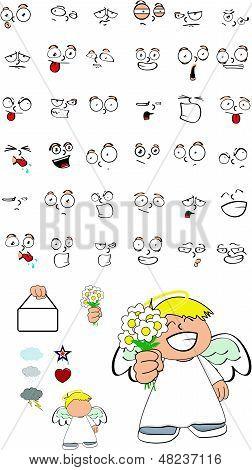 angel kid cartoon set4
