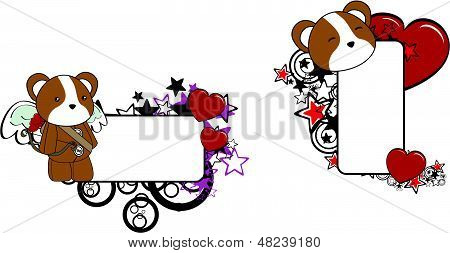 hamster cupid cartoon baby love copyspace