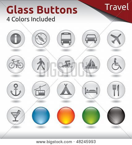 Glass Buttons Travel