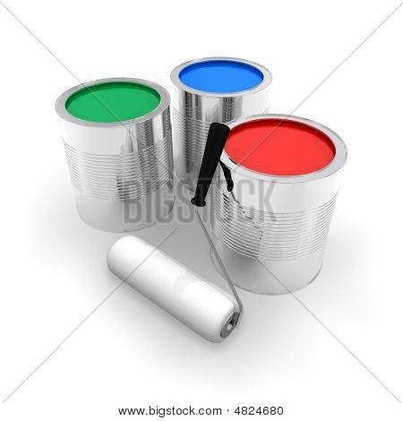 Cans With Color Paint