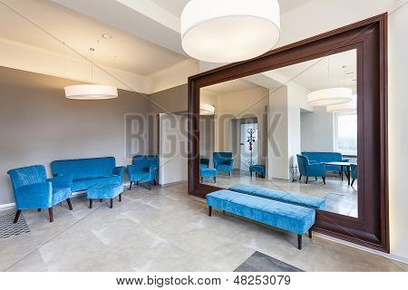 Huge Mirror And Sofa
