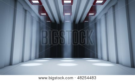 Düstere Halle