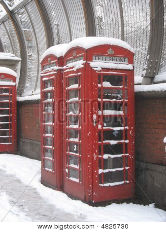 Phonebox In The Snow