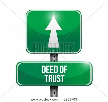 Deed Of Trust Road Sign Illustration