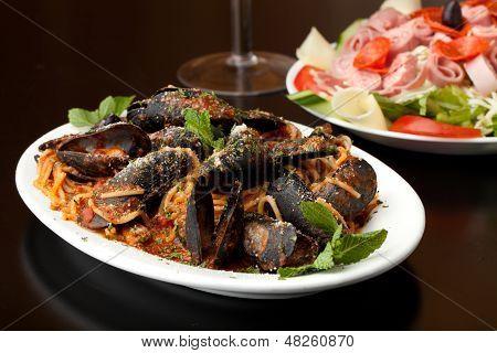 Italian Mussels Dish