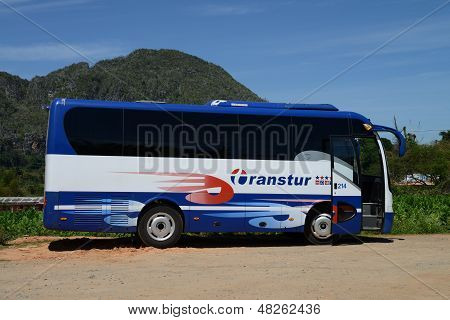 Coach operated by Transtur in Cuba