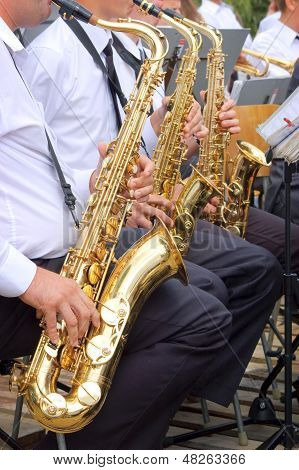Saxophone background