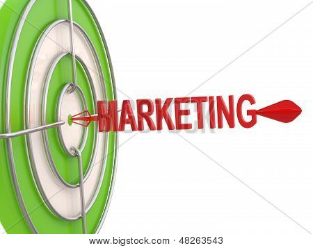 Success Concept. Marketing Target. 3D Model