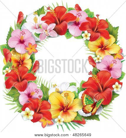 Wreath of tropical flower