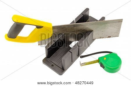 Plastic Saw Angle Cut Miter Box Measure Meter Tool
