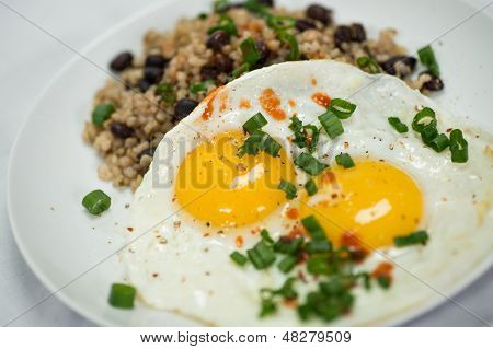Breakfast Plate With Eggs