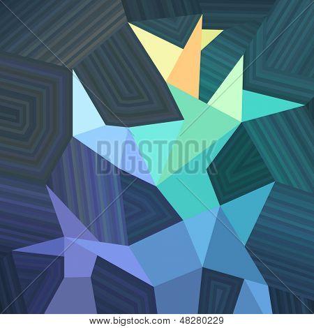 Geometric mosaic background, vector eps8 illustration