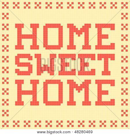 8-bit Pixel Home Sweet Home Mat