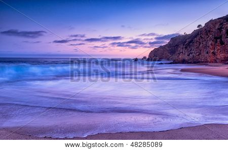 Sunset beach de California