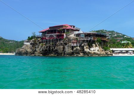 The beautiful Eden Rock hotel at St Barts, French West Indies