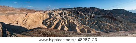 Panorama Of Zabriskie Point In Death Valley
